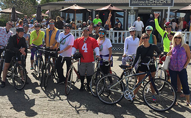 Fat Tire Ride - Group Photo with Bikes