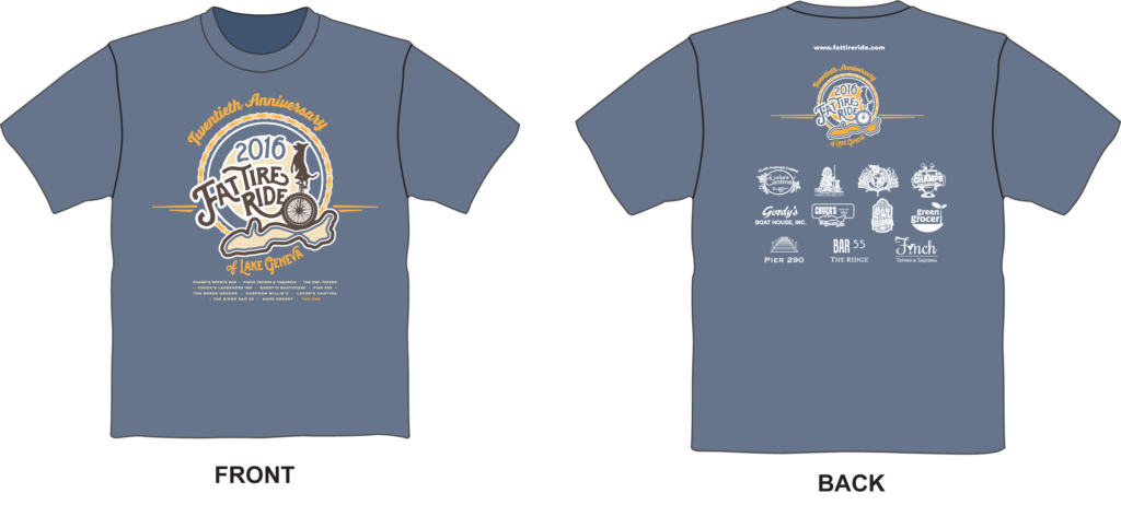 Fat Tire Ride 2016 T-Shirts